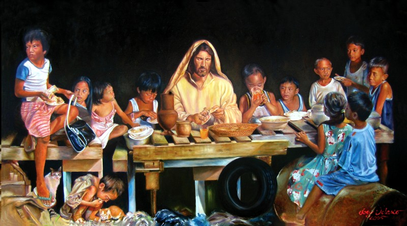 Let's all move over to the kids' table, where Jesus is hanging out.