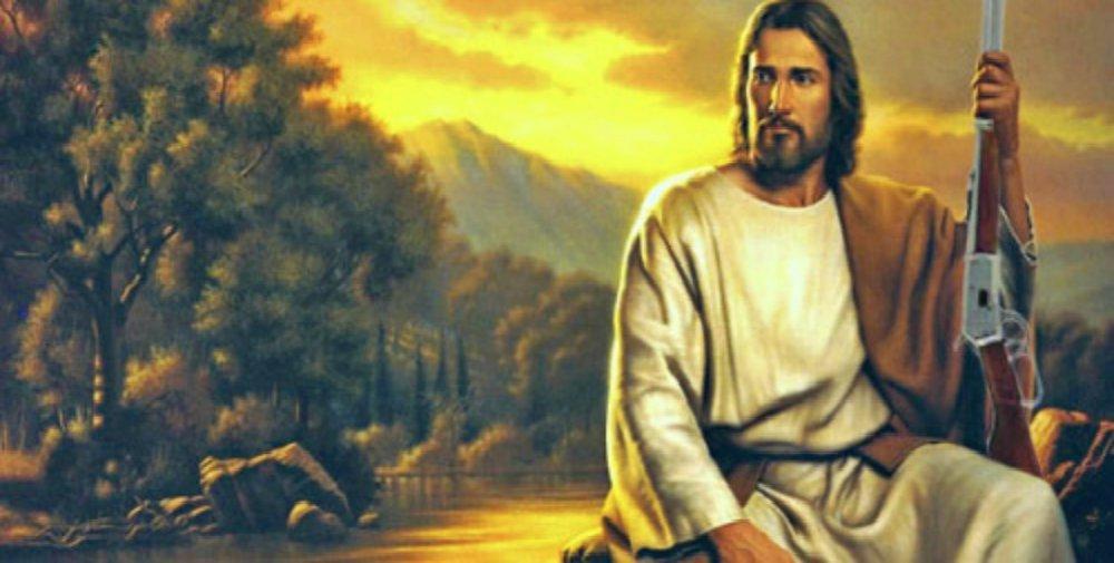 Who would Jesus shoot? Ummmm… no-one?