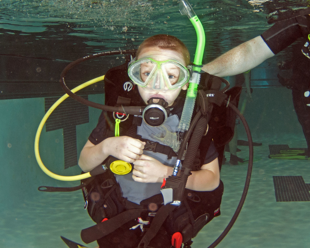 """ Scuba diving is too fun to stop!"" -isaac-"
