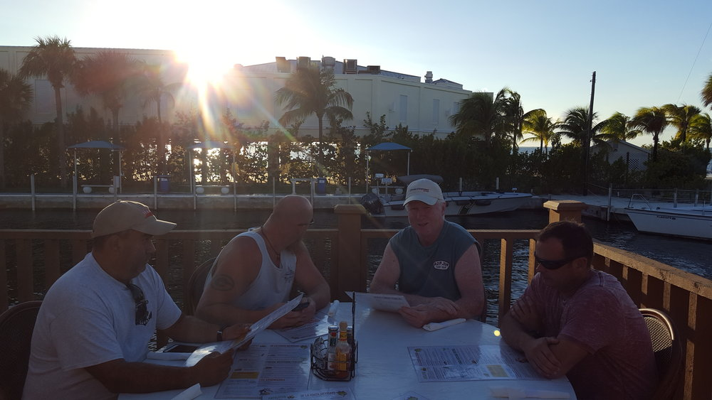 Sunset dining in Key Largo