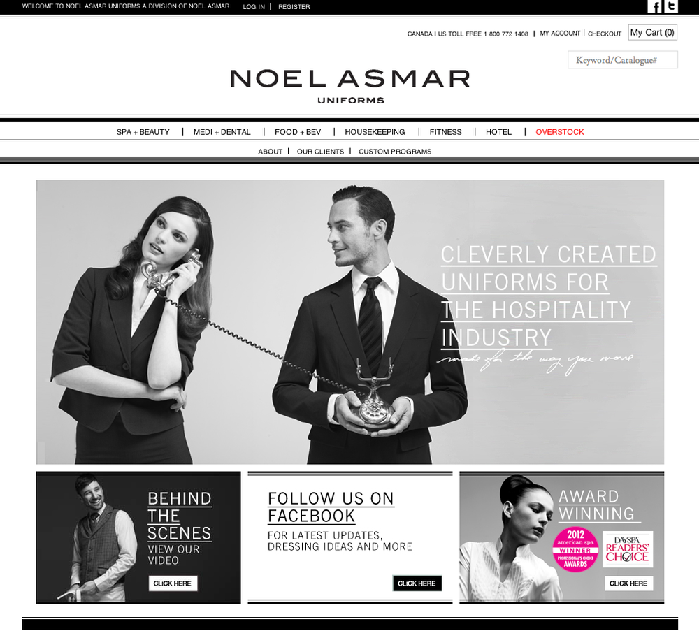 Noel Asmar Uniforms Site.