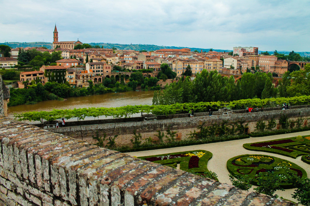 View of Albi from the Cathedral gerdens