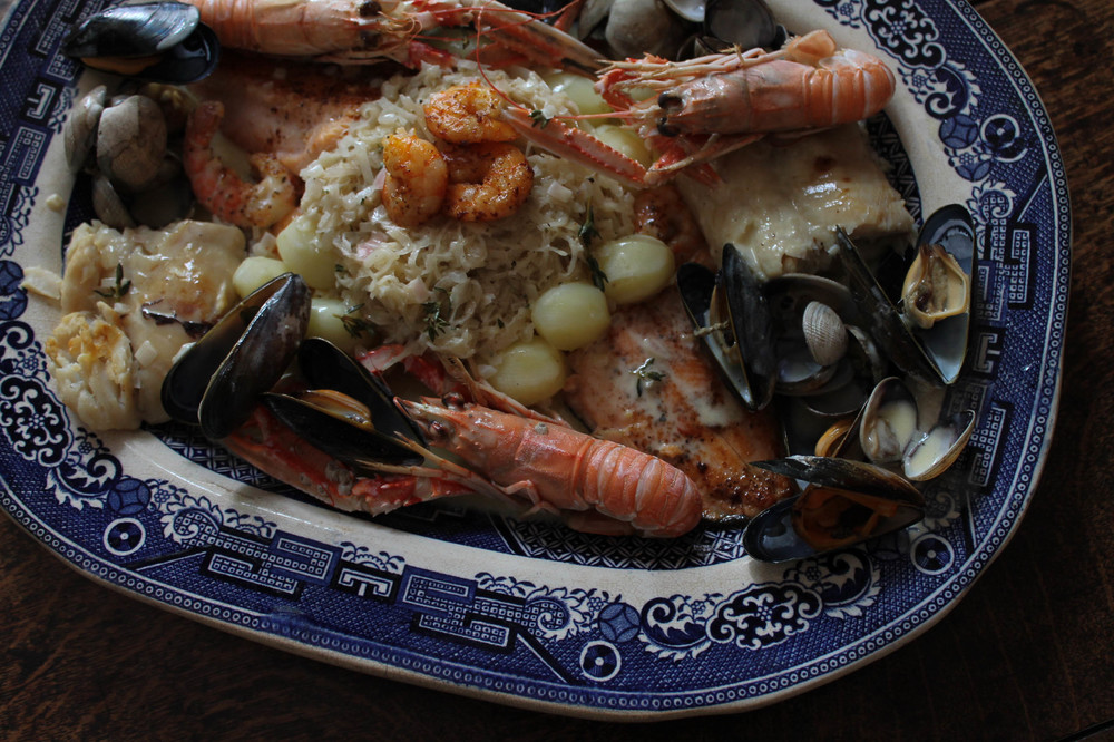 Seafood choucroute