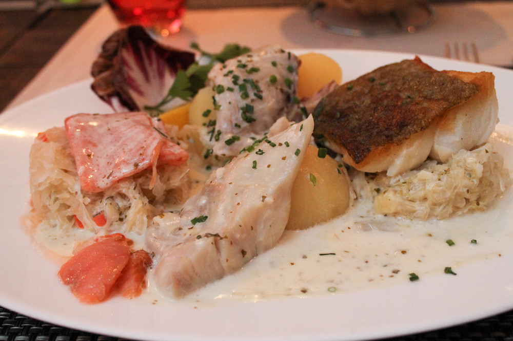 Fish choucroute, Au Dauphin, Strasbourg