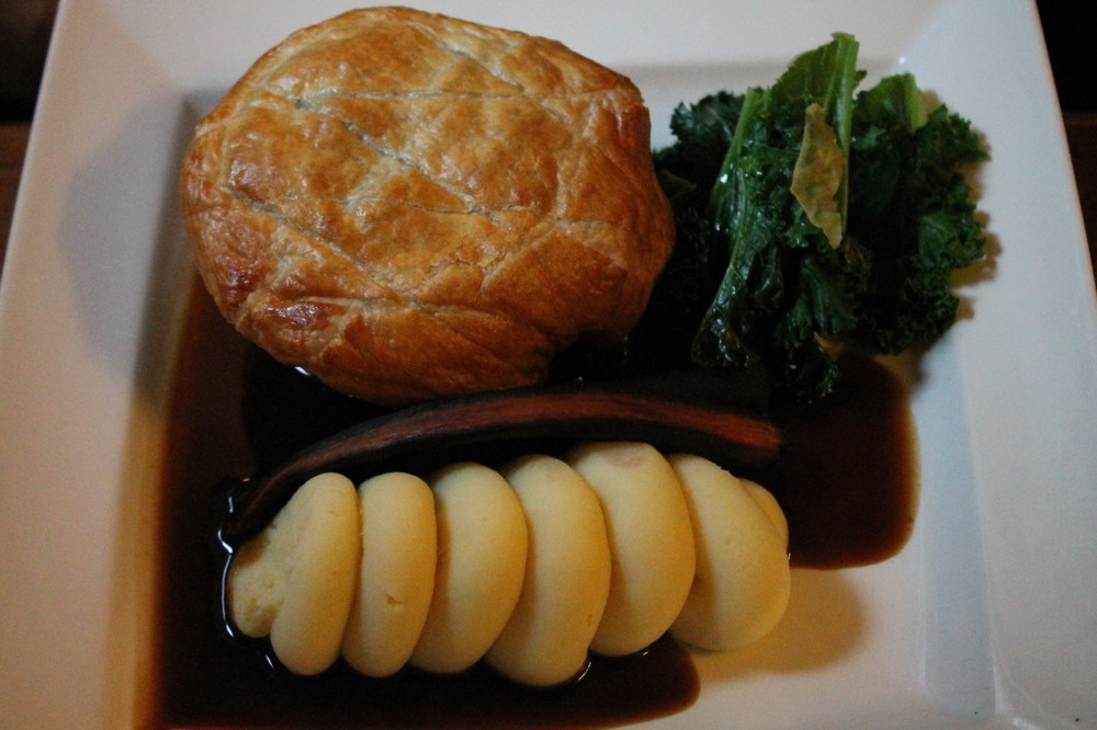 Steak and ale pie and chips | The Cat Inn