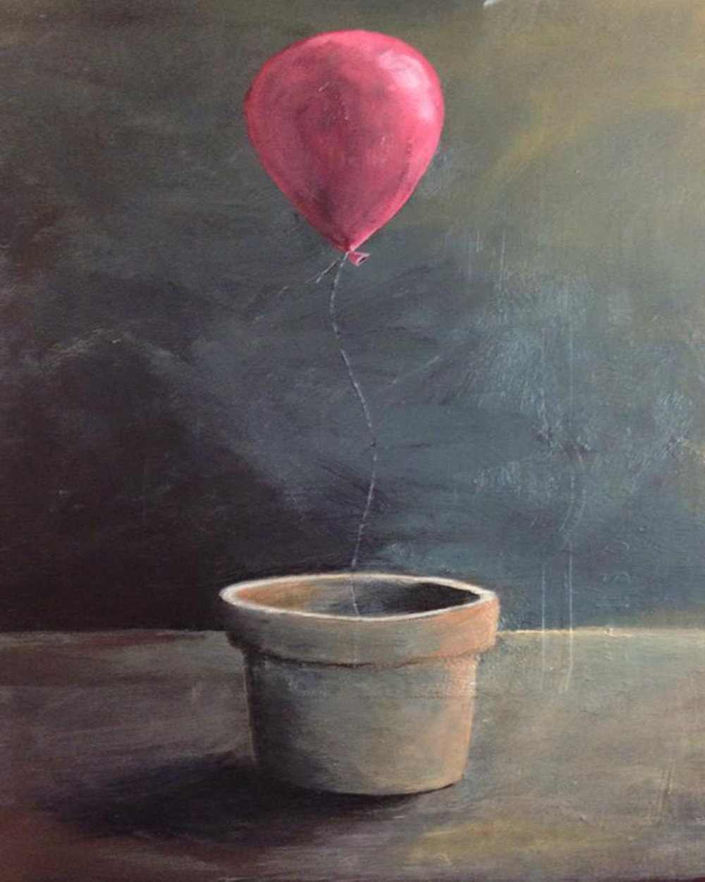 still life with balloon