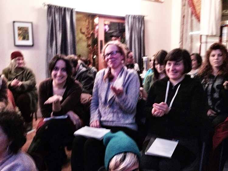 Jen with students at the Astrology of 2014 talk.