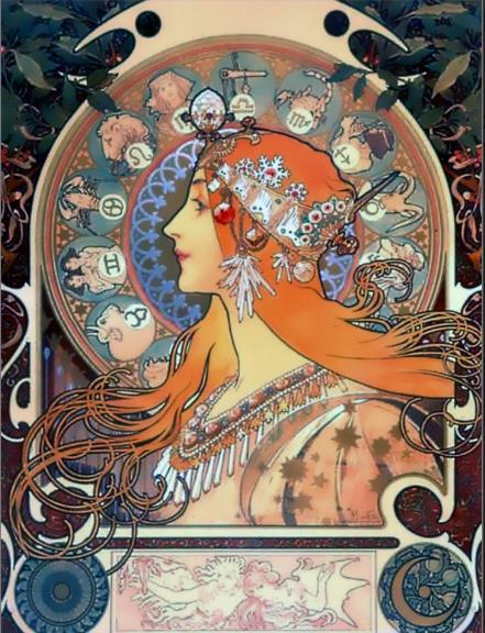 Zodiac (1896) Alphonse Mucha