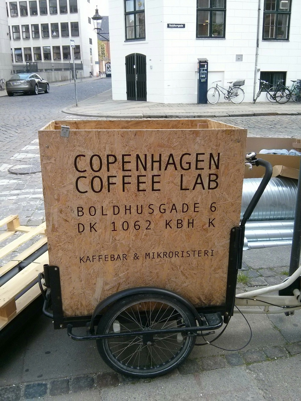 coffee shop on the go in copenhagen.