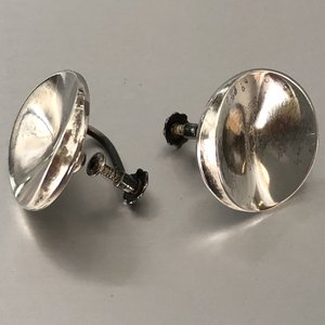 0ab79d6a6 Vintage Georg Jensen Earrings # 136 C, Sterling Silver Designed By Nanna  Ditzel Screw Back