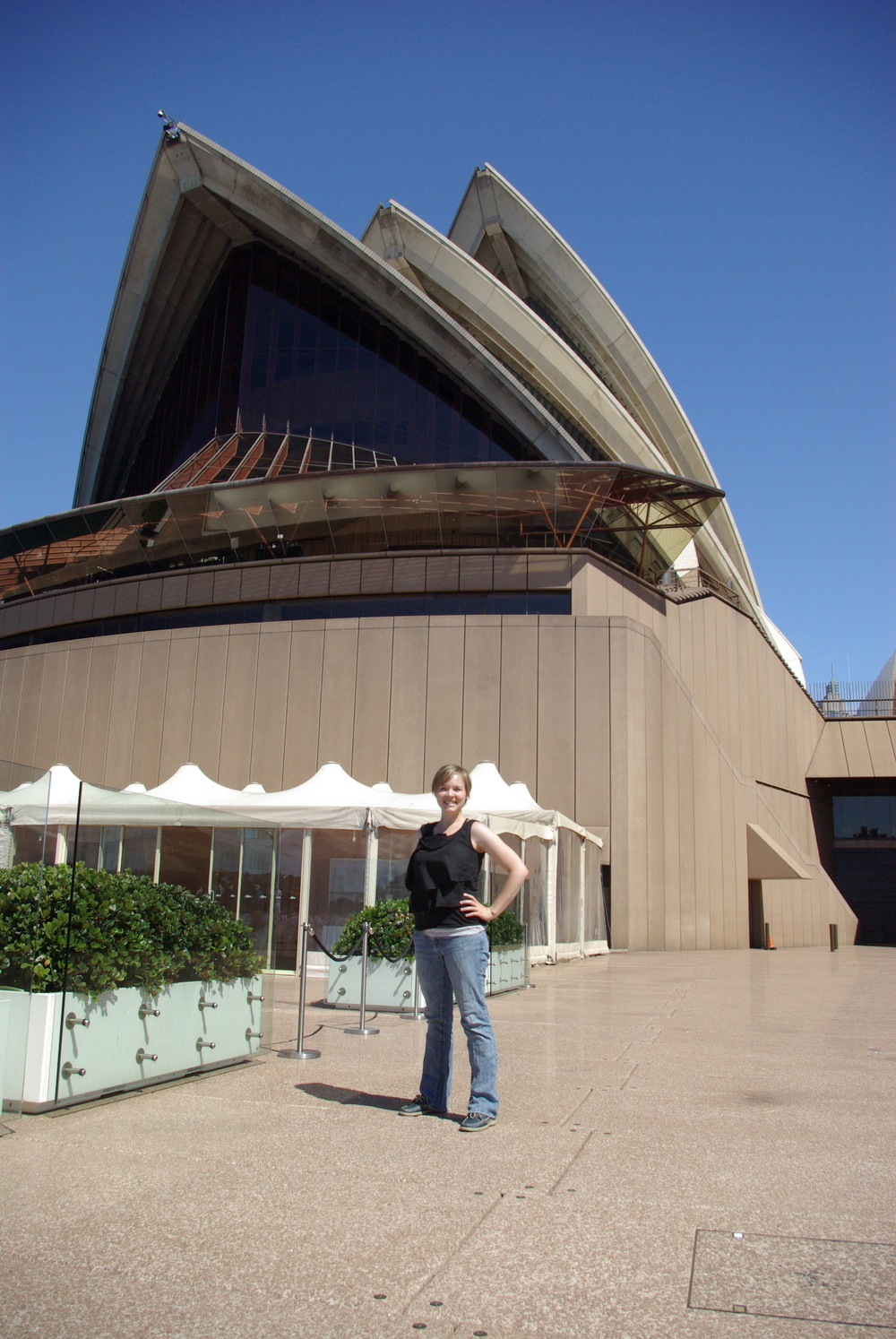 My beautiful wife at the Opera House