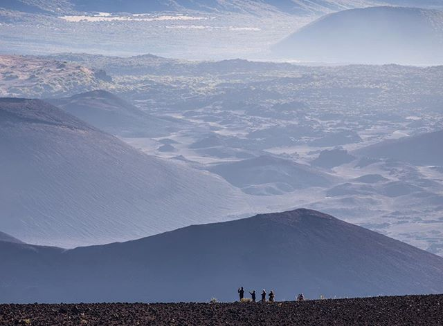 Craters, domes and volcanic rock make up the surreal, otherworldly environment of Hawaii's Haleakalā Crater. The rim of the volcano sits at a massive 10,000 feet above the nearby coastline and the hike down into the volcano feels like visiting another planet. #hawaii #haleakala #maui @gohawaii #lethawaiihappen