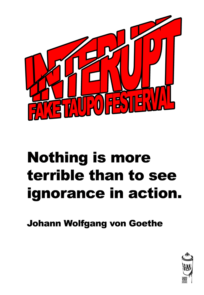 IntErupt >> Fake Taupō Festerval >> more unauthorised posters