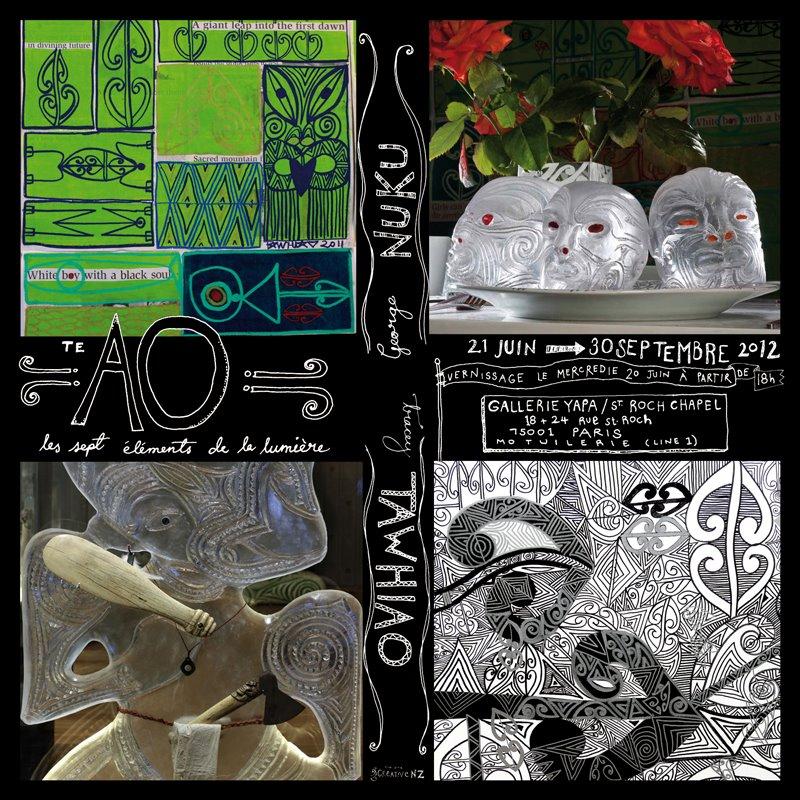 George Nuku & Tracey Tawhiao      les sept elements de le lumiere       21 JUIN > 30 SEPTEMBRE 2012       Gallerie Yapa / St Roch Chapel       18 - 24 Ave St Roch        PARIS