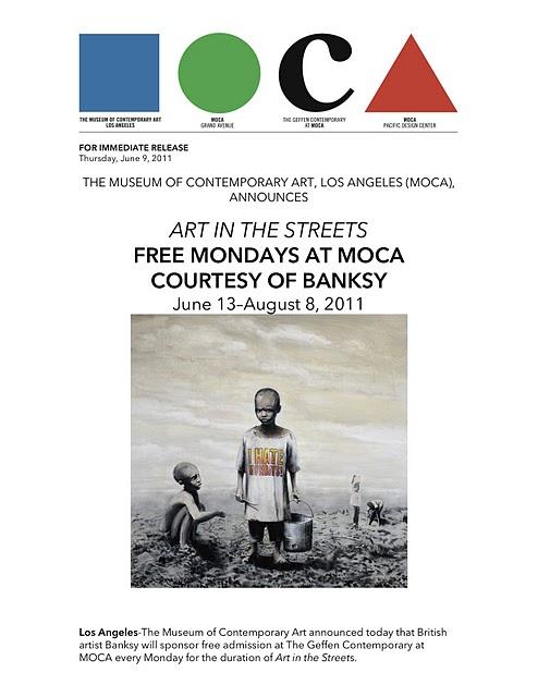 Banksy pays entry to MOCA