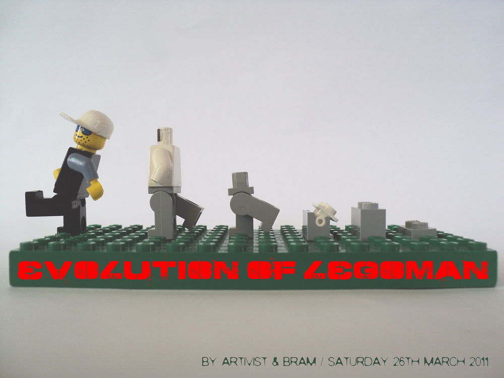the evolution of legoman <<< Bram & ARTIVIST make