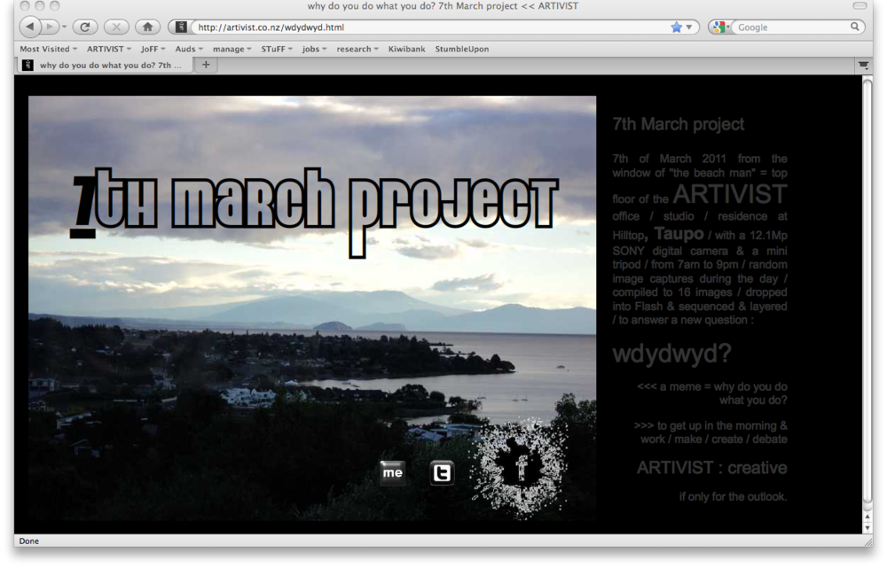 7th March project by ARTIVIST = wdydwyd?