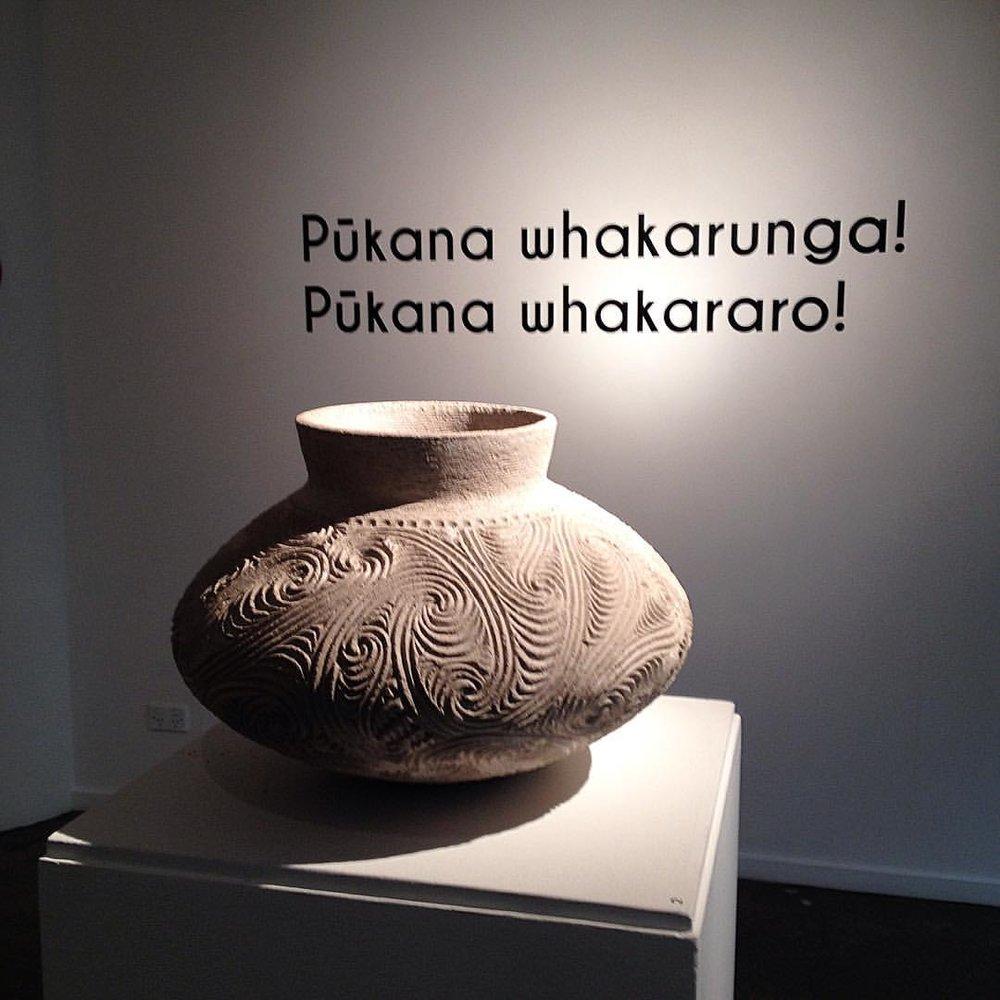 Stevei Houkamau'Ipu Whenua', 2017 white raku clay