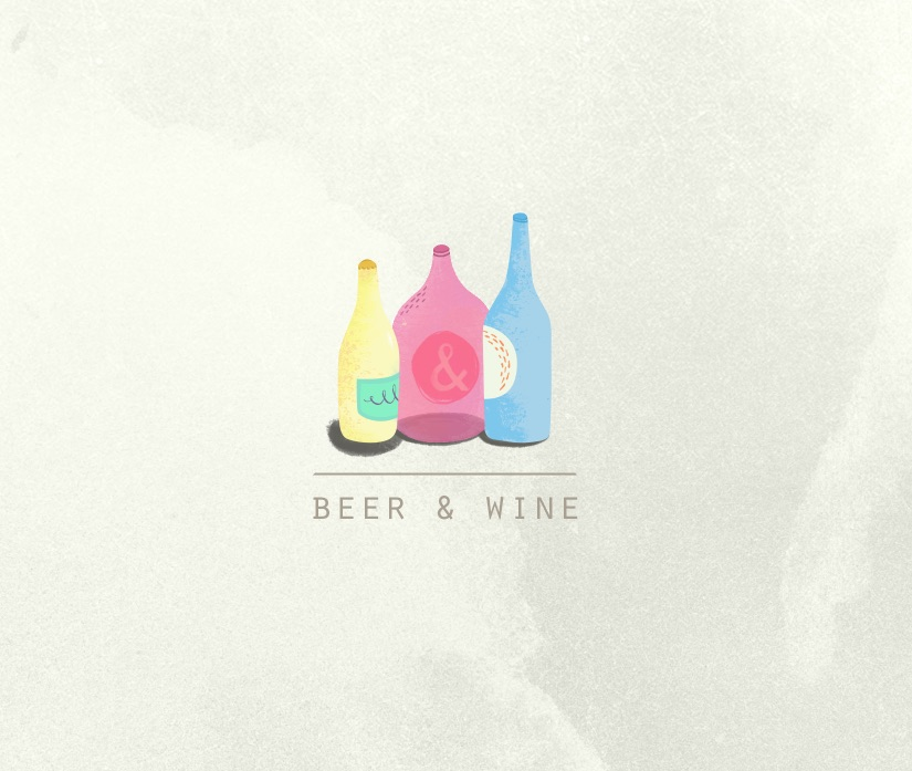 Beer and Wine Menu Illustration