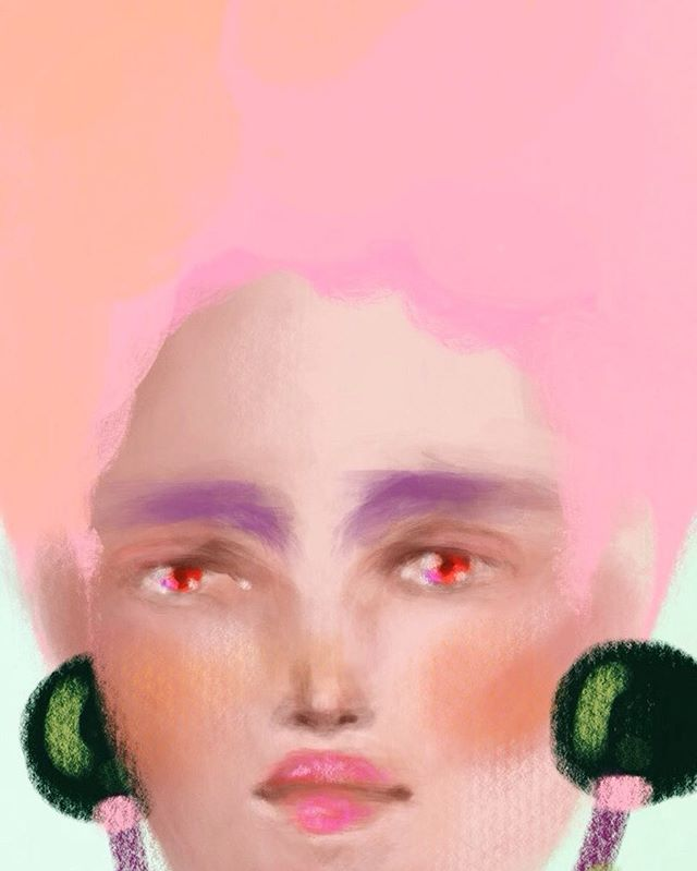 Cotton head. 🌸🍥🍡🍬 -  #creativecloud  #artisticmoods #artists_community #illustrationoftheday #digitalpainting #holatania #digitalillustration #mariaantonieta #patterndesign #illustration #adobeink #kawaiigirl #kawaii #portraitillustration  #illustrationnow #procreateapp #beautifulbizarre
