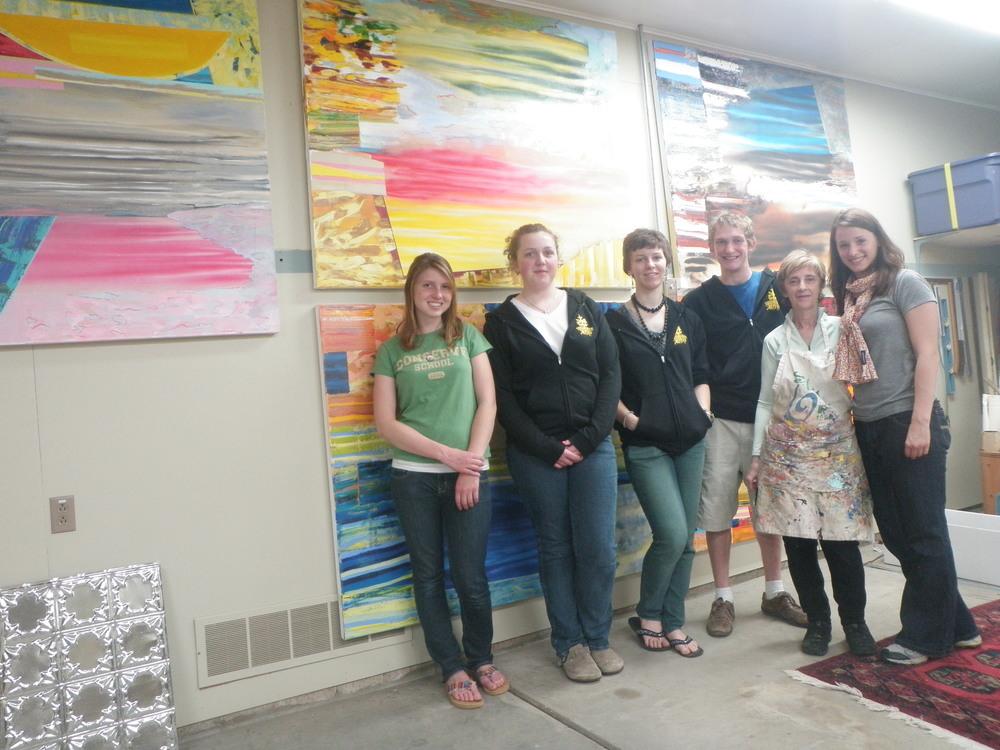 Visiting with Artist: community member Kathleen Banton