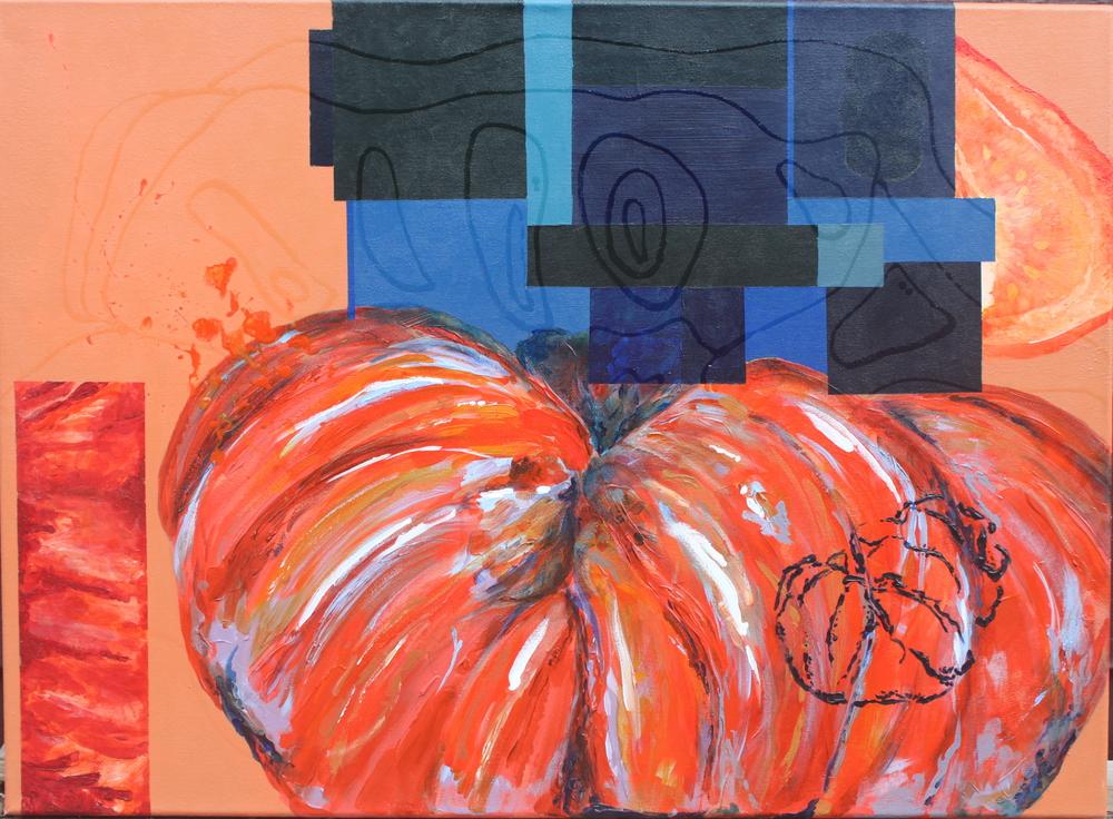 8 Tomates  - Acrylic on Canvas