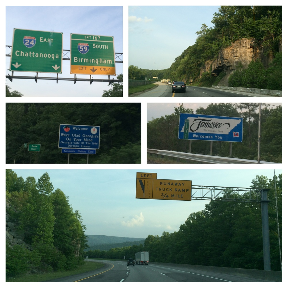 Steep grades, in and out of Georgia