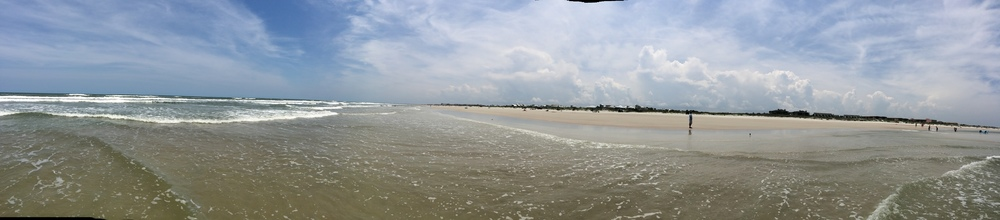 Standing in the water... that person there is JB! Saint Augustine Beach