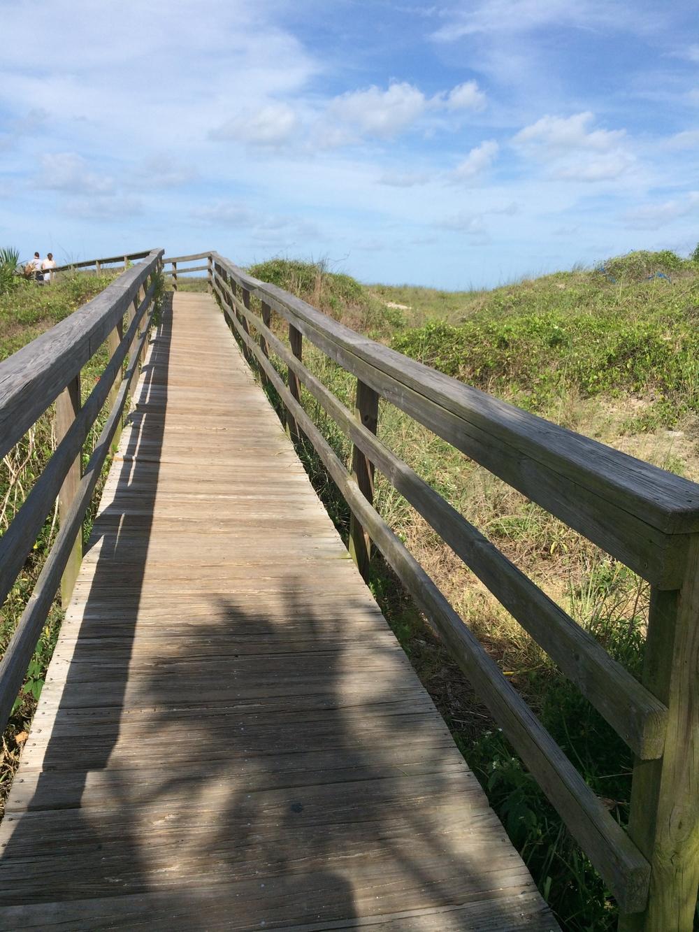 Walking to Vilano Beach