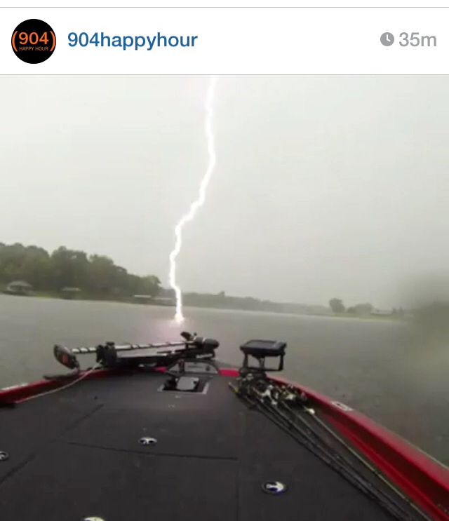 posted earlier on 904HappyHour Instagram account - stuff like this is still coming down a bit, lots of electricity in the air