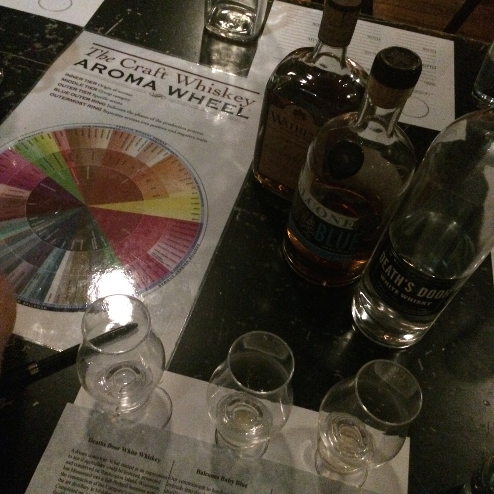 Whiskey tasting at the Ice Plant