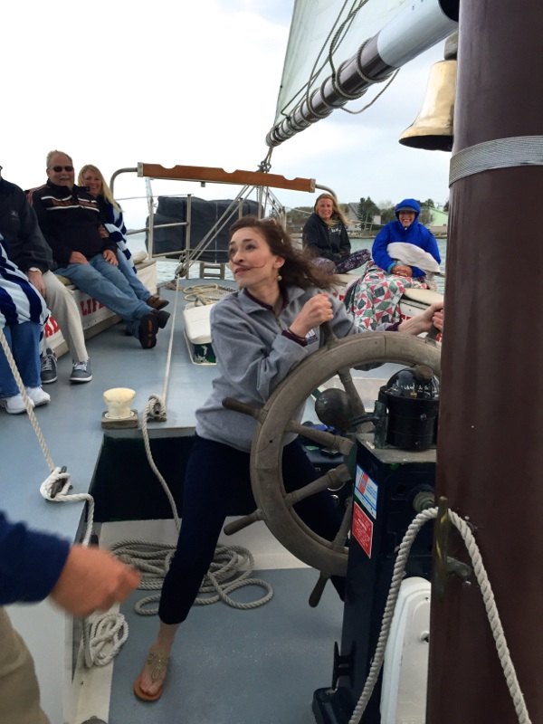Adrienne tacked the boat!