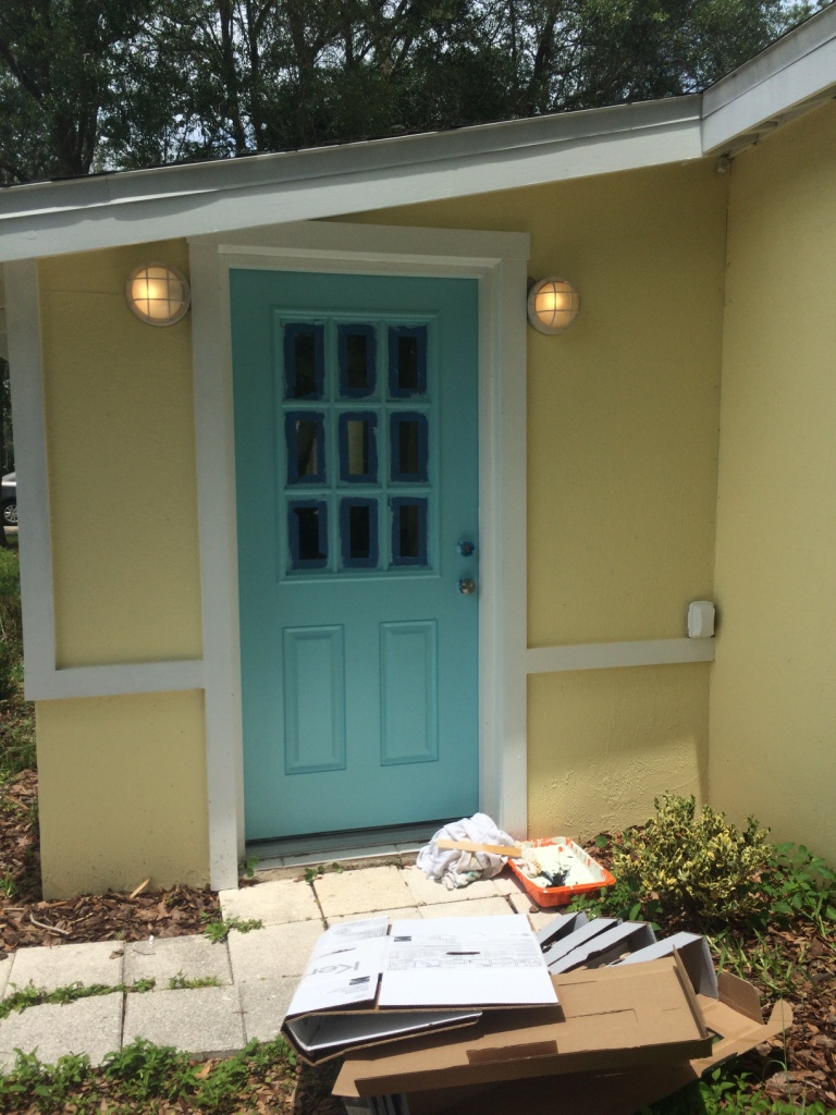 From boring white to fun bright Robin's egg blue.