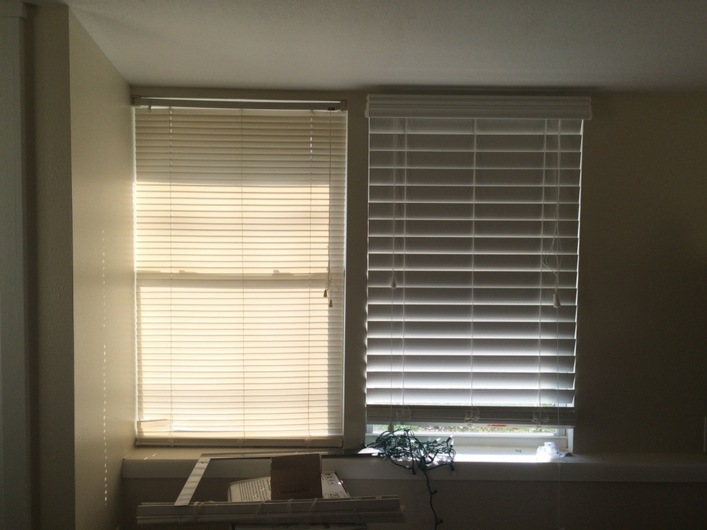 New blinds! So much more insulation.