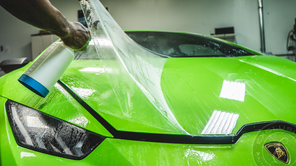 """- """"The blistering effect has everything to do with the quality of application. A proper application process includes hairsplitting attention to the vehicle's surface before any film touches paint.""""Learn more about our process."""