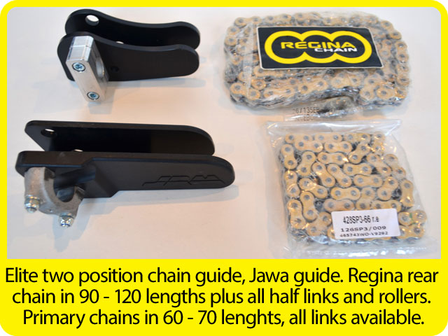 Elite-two-position-chain-guide,-Jawa-guide.-Regina-rear-chain-in-90---120-lengths-plus-all-half-links-and-rollers.-Primary-chains-in-60---70-lenghts,-all-links-available..jpg