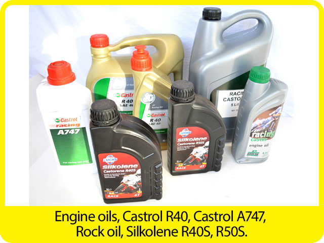 Engine-oils,-Castrol-R40,-Castrol-A747,-Rock-oil,-Silkolene-R40S,-R50S..jpg