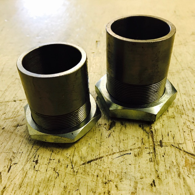 Inlet pipe and nut