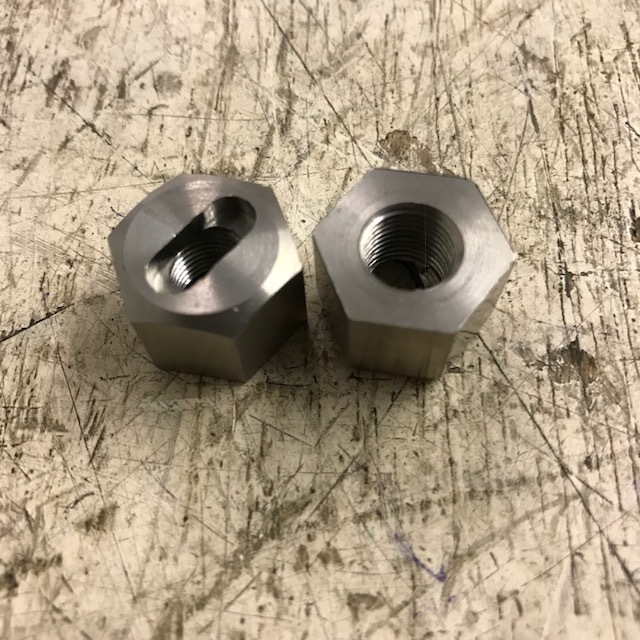 Oil pump thimble nut combined