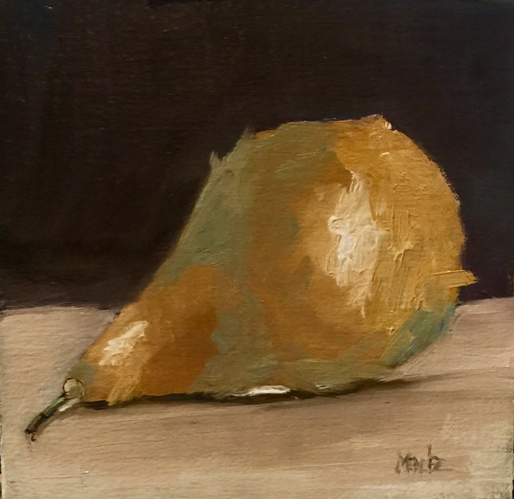 Pear 6.5x6.5 oil on linen