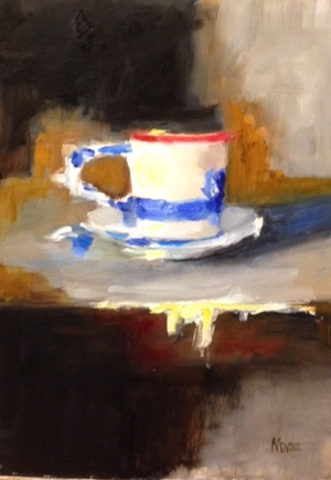 Cup With Blue 21x16 SOLD