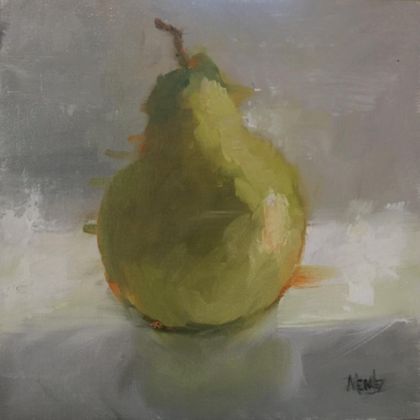 Morning Pear 12x12 oil on linen