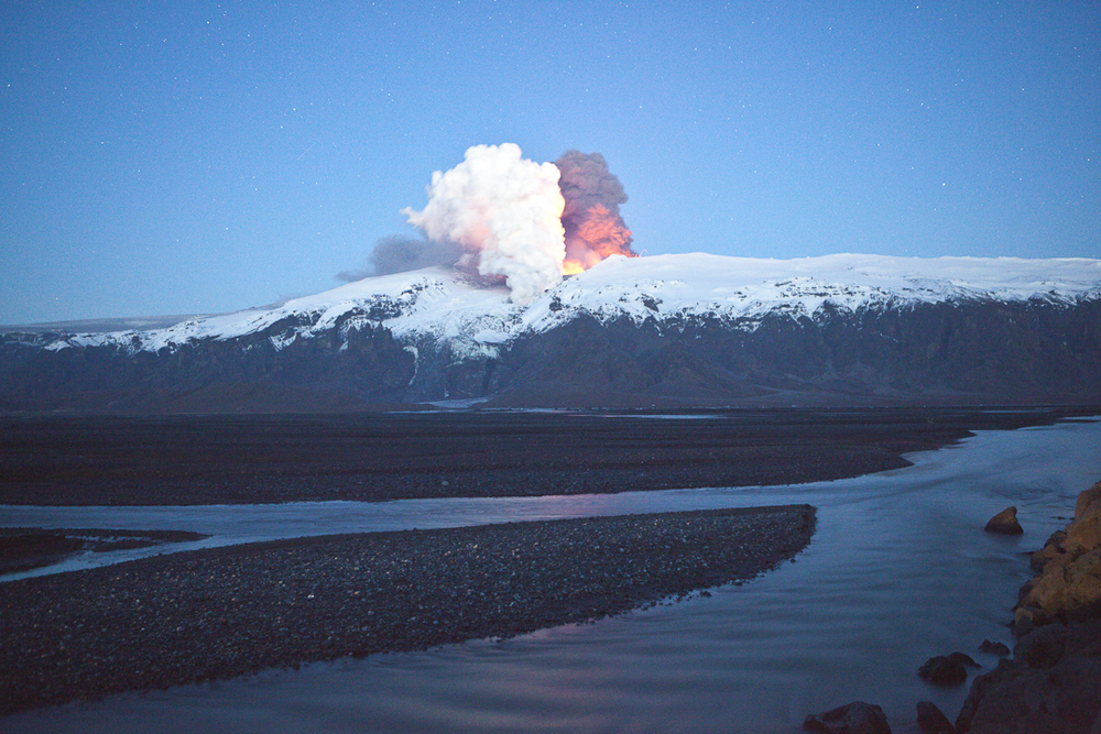 This epitomizes our recent visit to erupting Eyjafjallajokull volcano in Iceland