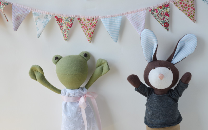 Lucas and Ella made this bunting for May Day. Here is how they did it.