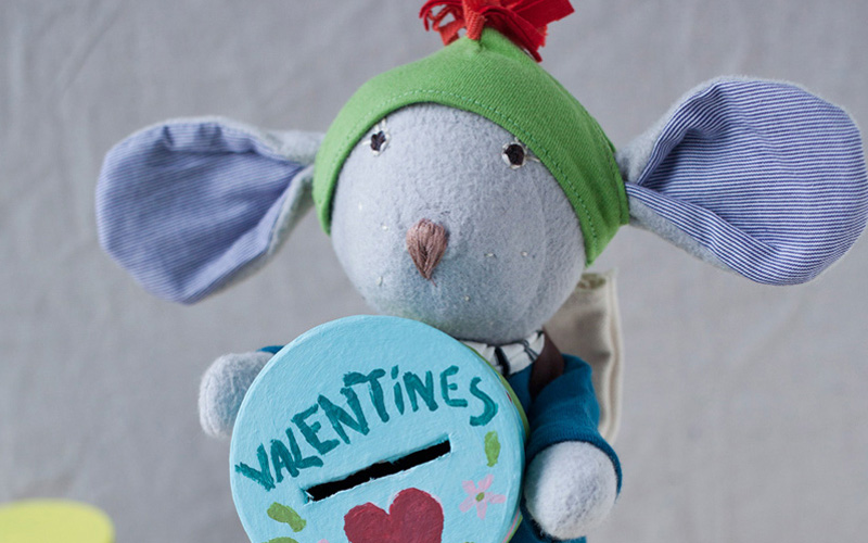 """In late January Oliver asked the other animals who they thought should be put in charge of deliveries for Valentine's Day. And the other animals said, """"you, of course!"""" because Oliver did the valentines every year. So he put the Valentines Box in his yard."""