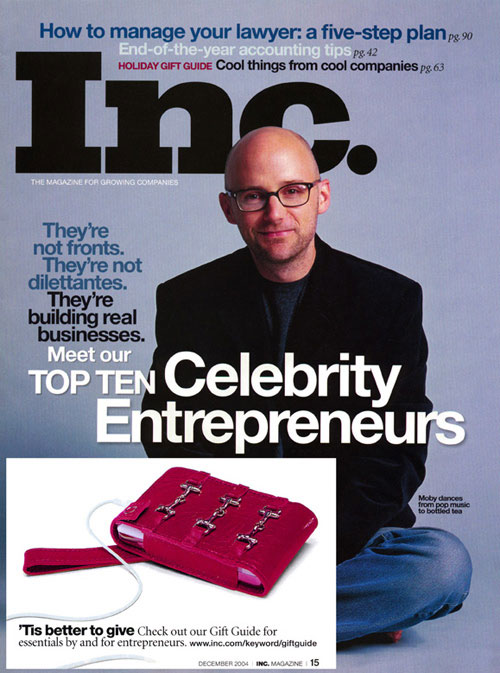An Aneta Genova iPod case featured in Inc. magazine