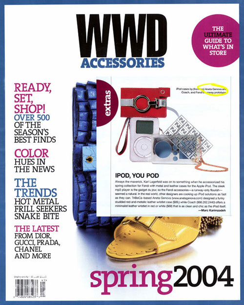 An Aneta Genova iPod case featured in WWD