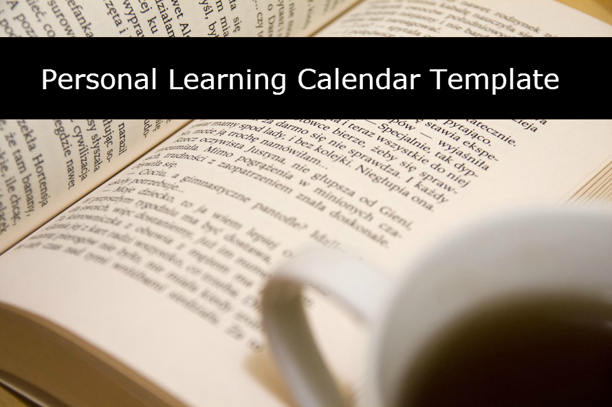 personal learning calendar template