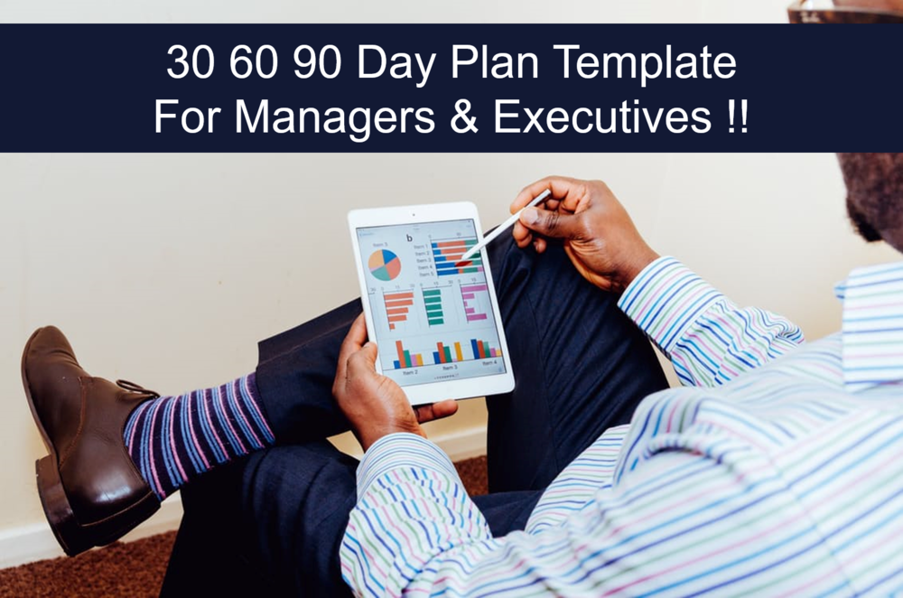 30 60 90 Day Plan Template for Managers