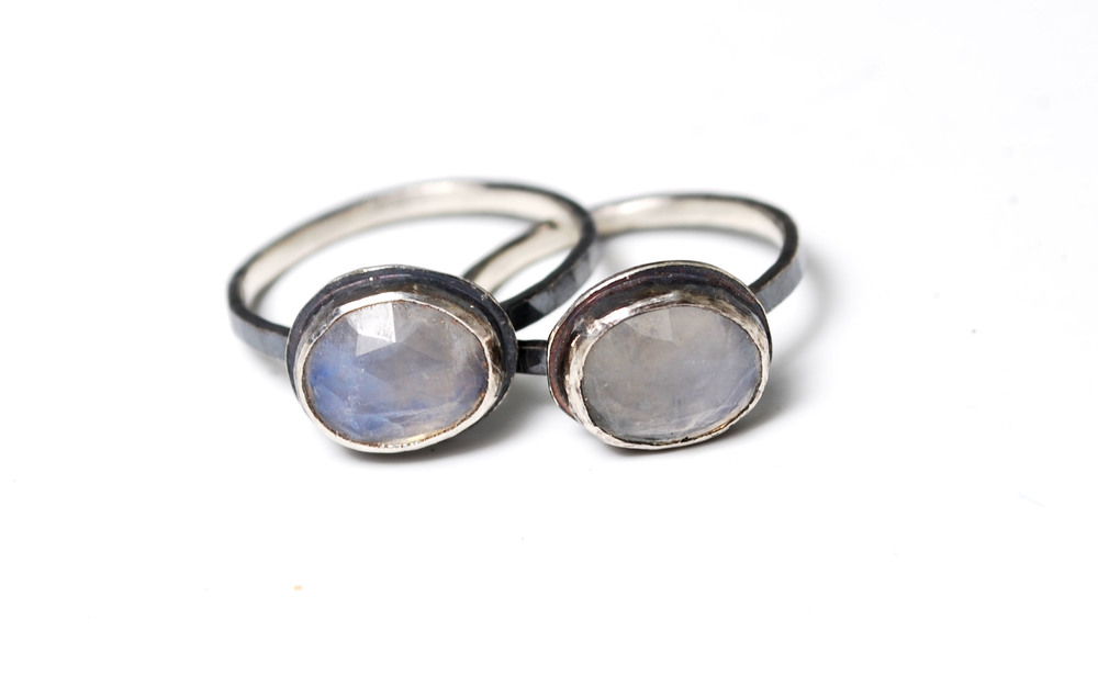 Moonstone and silver